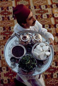 MOROCCO. Marrakech, 1988.  Morocco Tea Serving.