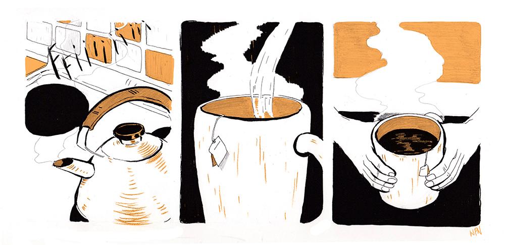 le thé illustré en photo 16