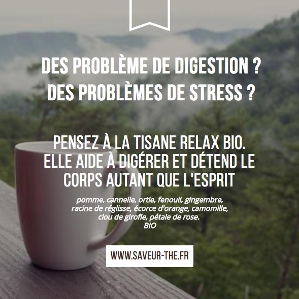 problème de digestion de stress tisane relax bio